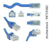 Rj45 Cable In Various Position...
