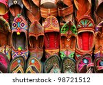 indian traditional slippers | Shutterstock . vector #98721512