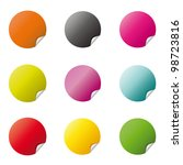 colored circle icons | Shutterstock .eps vector #98723816