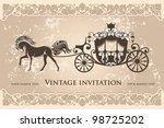 royal carriage with  horse on... | Shutterstock .eps vector #98725202
