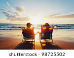 happy romantic couple enjoying... | Shutterstock . vector #98725502
