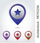 gps icon set | Shutterstock .eps vector #98752256