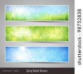 nature bokeh banners   three... | Shutterstock .eps vector #98752838