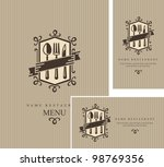 restaurant menu design | Shutterstock .eps vector #98769356