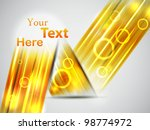 perspective yellow card. vector ... | Shutterstock .eps vector #98774972