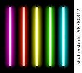 neon tube light. vector. | Shutterstock .eps vector #98780312