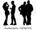 drawing of two couples | Shutterstock . vector #98782352