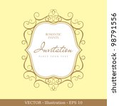 label or invitation vintage... | Shutterstock .eps vector #98791556