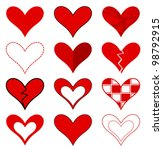 hearts collection. vector... | Shutterstock .eps vector #98792915