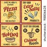 set of retro vintage tin signs... | Shutterstock .eps vector #98806628