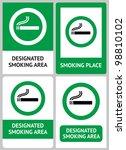 label set smoking place | Shutterstock .eps vector #98810102