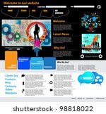 web site design template  vector | Shutterstock .eps vector #98818022