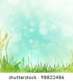 spring or summer meadow with... | Shutterstock . vector #98822486