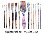 various dirty paint brushes... | Shutterstock . vector #98825822