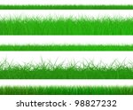 green grass set  isolated on... | Shutterstock . vector #98827232