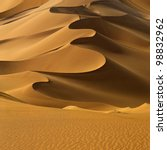 Sand Dunes At Sunset In The...