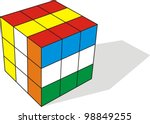 3d illustration of cube...