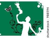 a fire eater | Shutterstock .eps vector #988594