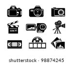 video and photo icon set | Shutterstock .eps vector #98874245