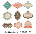 vintage label style with nine... | Shutterstock .eps vector #98889182