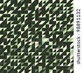 triangle green texture  tile | Shutterstock .eps vector #98891132