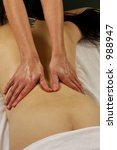 spa full body massage | Shutterstock . vector #988947