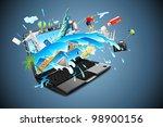 illustration of world famous... | Shutterstock .eps vector #98900156