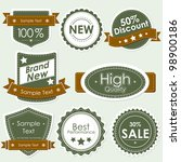 illustration of set of selling badge for sale,discount and off - stock vector