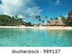 bora bora lagoon  french...   Shutterstock . vector #989137