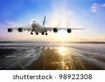 Passenger Airplane Landing On...