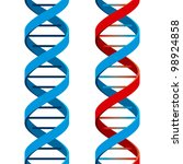 seamless dna symbol on white... | Shutterstock . vector #98924858