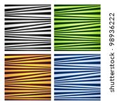 Four Abstract Striped...
