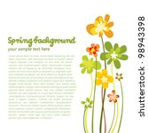 Stock vector spring colorful flower background 98943398