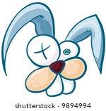 crazy bunny   blue