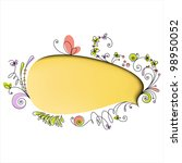 yellow speech bubble with... | Shutterstock .eps vector #98950052
