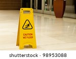 Yellow Sign That Alerts For We...