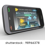 three dimensional phone on a... | Shutterstock . vector #98966378