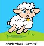 sheep cartoon | Shutterstock .eps vector #9896701