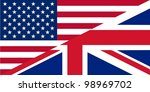 American and British English language icon useful for websites  - isolated vector illustration - stock vector