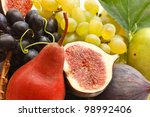 Delicious fresh fruit close up. Healthy food. - stock photo