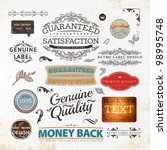 set of vintage premium quality... | Shutterstock .eps vector #98995748