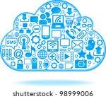 social network  communication... | Shutterstock .eps vector #98999006