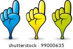 hand shaped pointer in three... | Shutterstock .eps vector #99000635