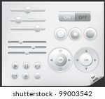 web buttons icons | Shutterstock .eps vector #99003542