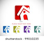 set of vector home icon design... | Shutterstock .eps vector #99010235