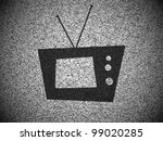 vector tv in front of white... | Shutterstock .eps vector #99020285