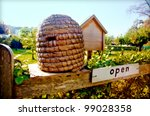 Bee House In Country Side