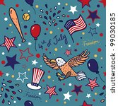 independence day pattern   Shutterstock .eps vector #99030185
