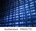 blue stock market ticker board | Shutterstock . vector #99031772