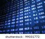 blue stock market ticker board | Shutterstock . vector #99031772